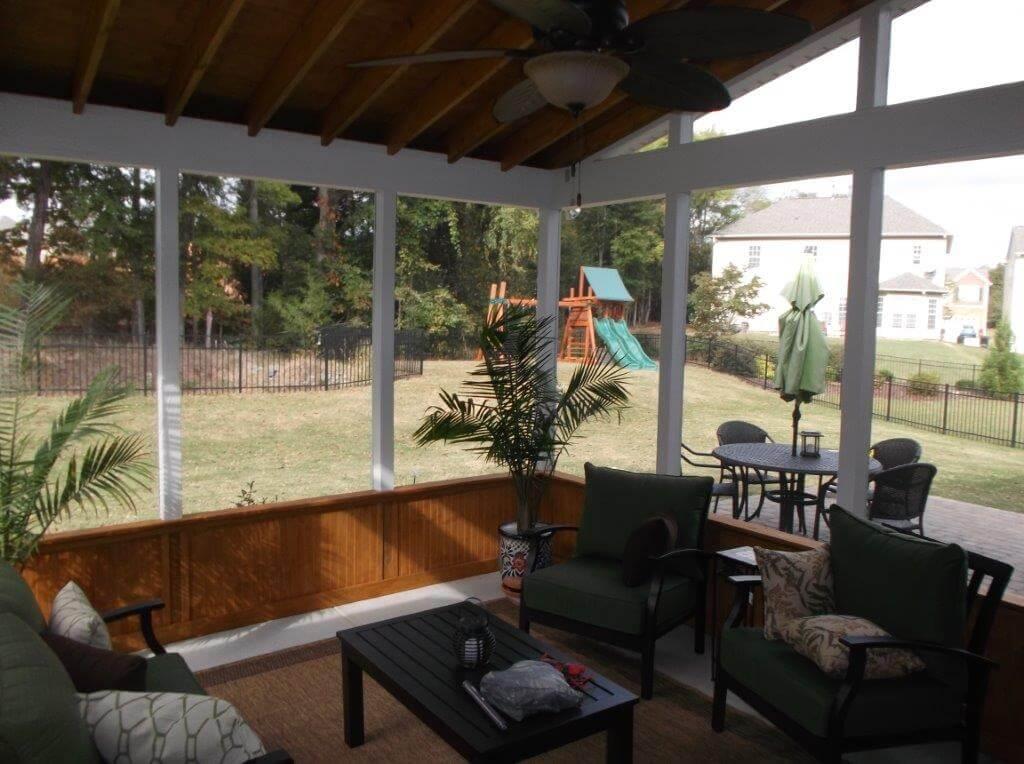 Matthews screened porch