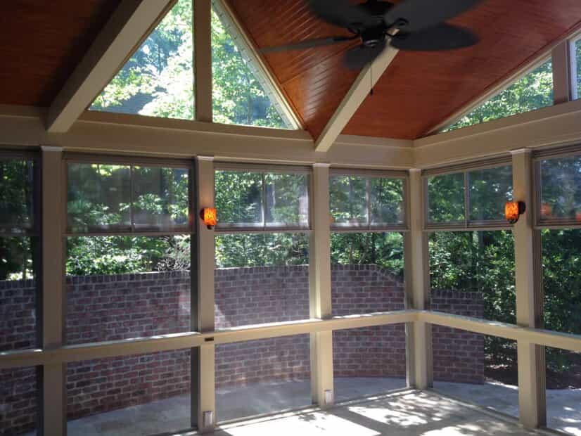 3 season room with big windows and high ceilings