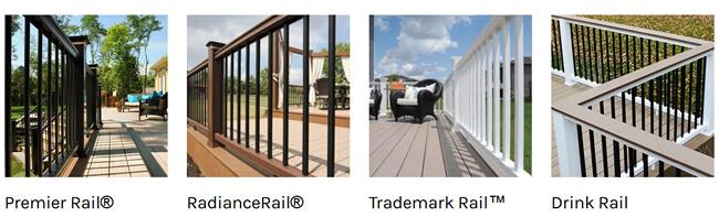 TimberTech Classic Composite railings - Premier Rail, Radiance Rail, Trademark Rail, Drink Rail