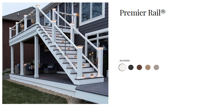 TimberTech PremierRail deck railing