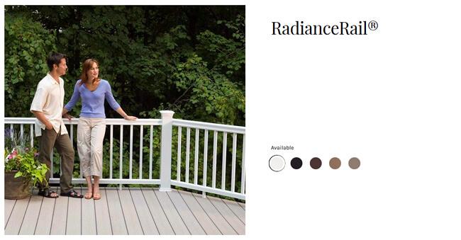 TimberTech RadianceRail deck railing