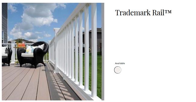 TimberTech Trademark Rail deck railing