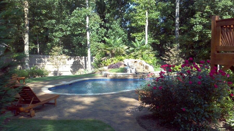 Custom patio and pool hardscape