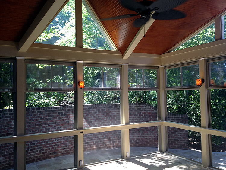 Custom 3 season room with eze breeze windows