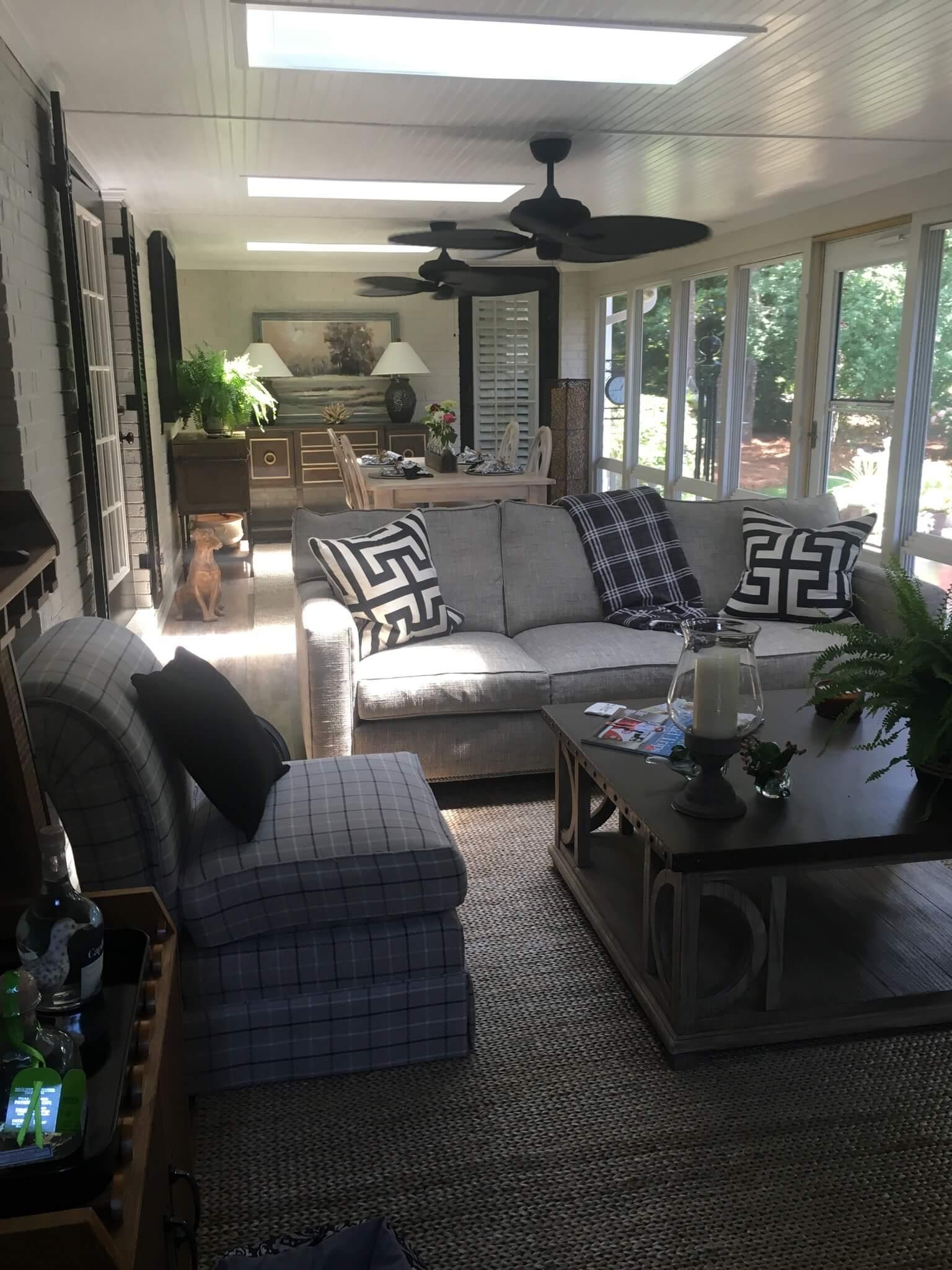 Cozy custom Eze breeze porch