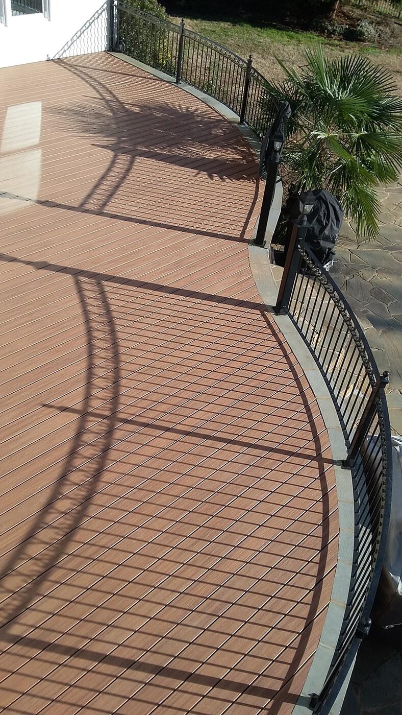 Trex Tiki Torch Deck in Waxhaw NC