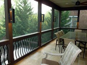 Custom porch with lightning