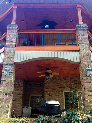 Custom porch and covered deck
