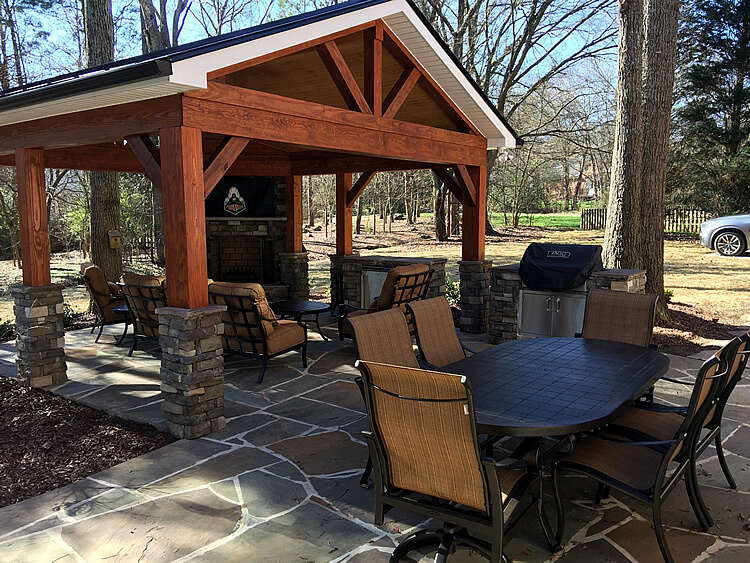 Can I Have A Flagstone Patio Installed In Winter Cornelius NC 1)