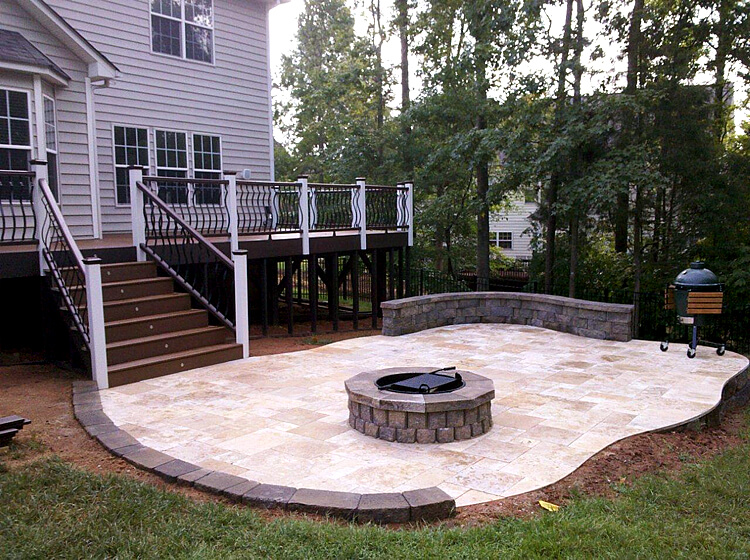 Can I Have A Travertine Patio Installed In Winter Charlotte NC 1)