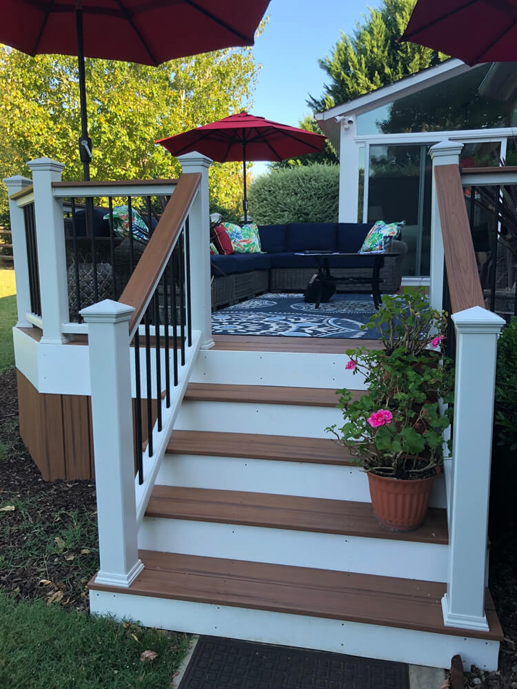 Multiple Outdoor Living Spaces Charlotte NC Deck and Screened Porch