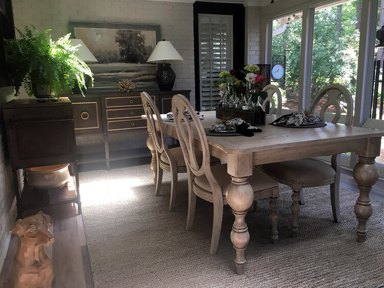 screened porch kids table
