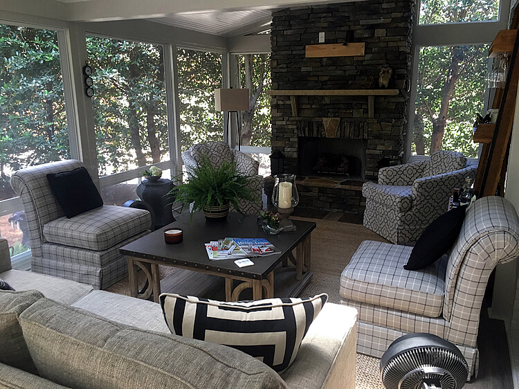 Custom shed room screened porch