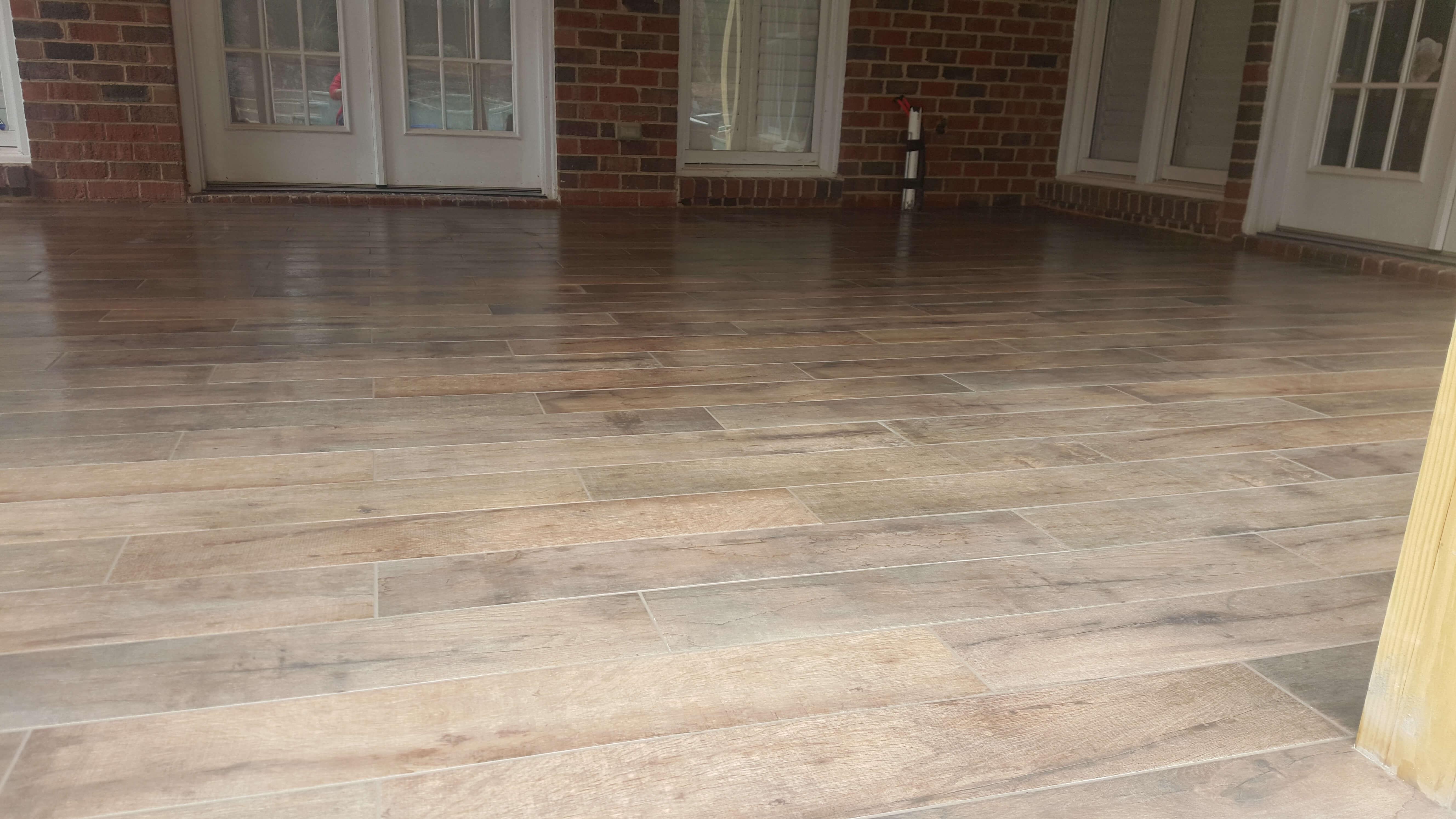 Tile wood design