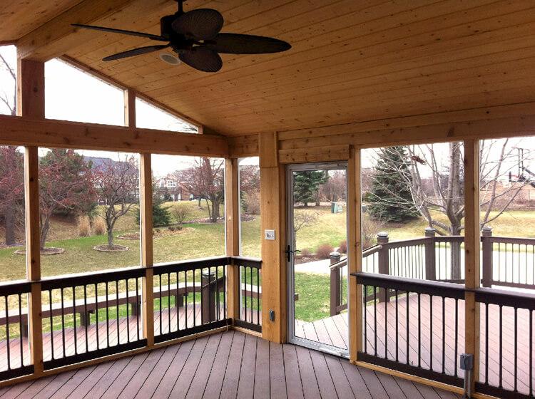 Custom screened porch in Aurora