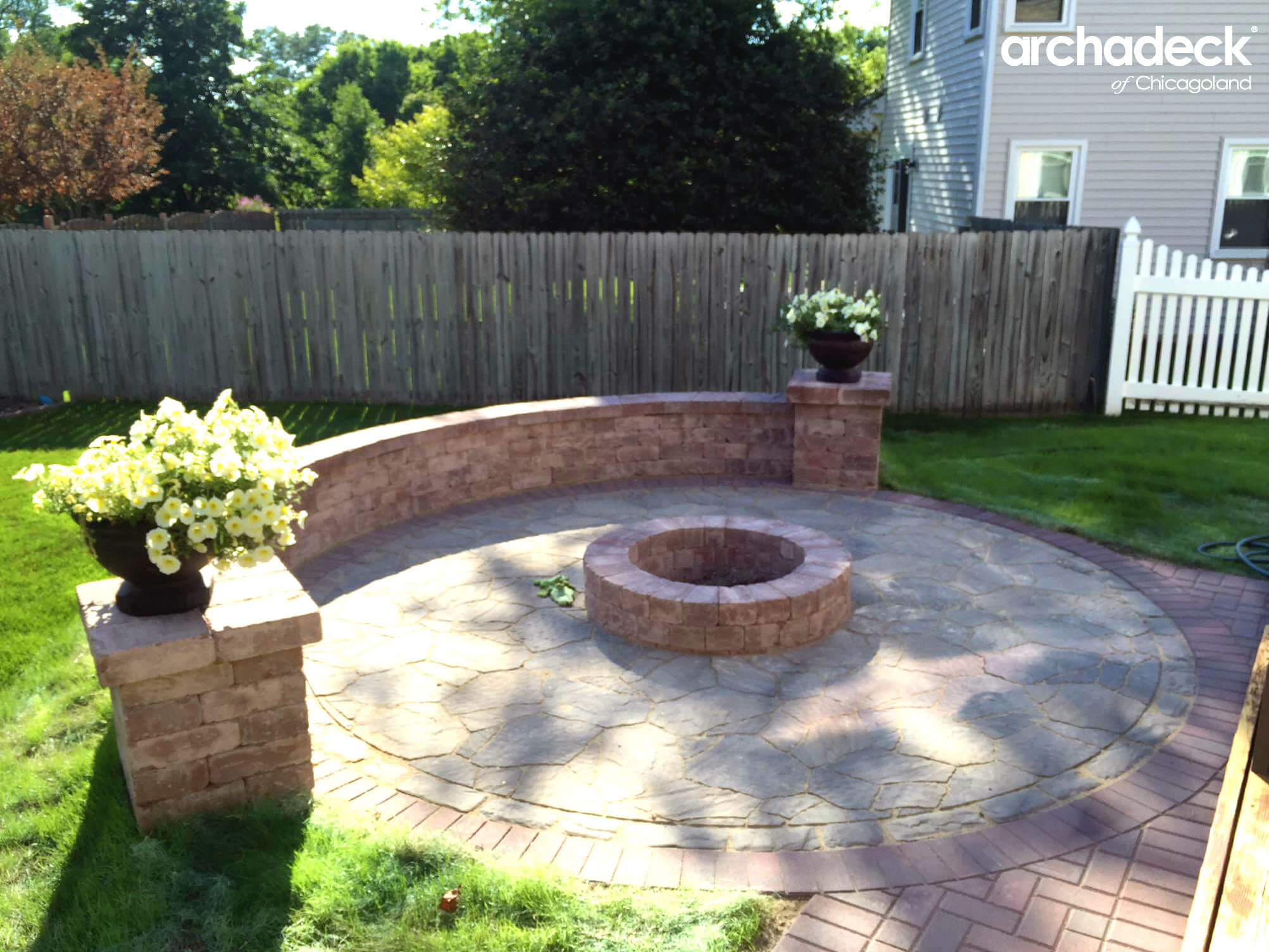 CUSTOM PATIO WITH IRE PIT