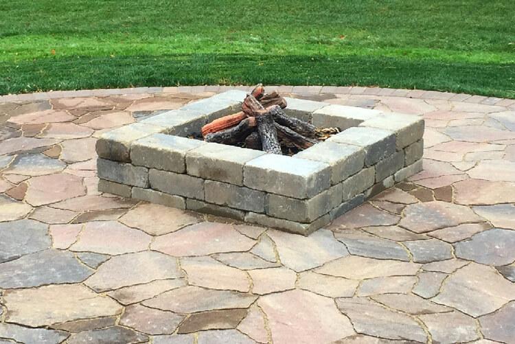 Custom square fire pit