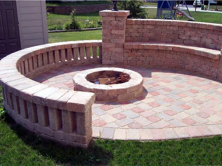 Custom circle fire pit