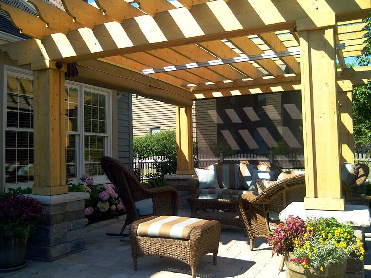 Custom pergola covered patio