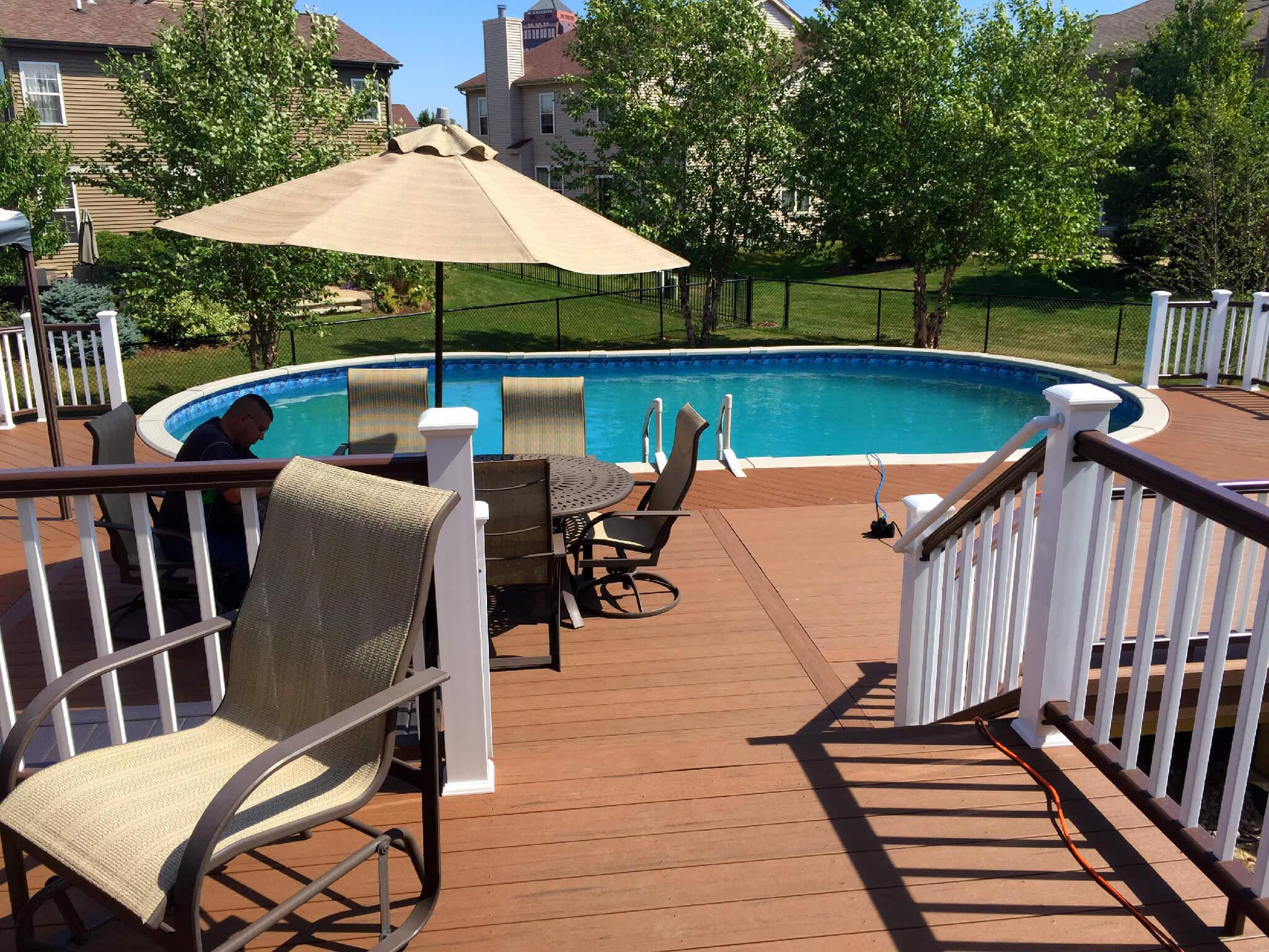 Custom composite pool deck