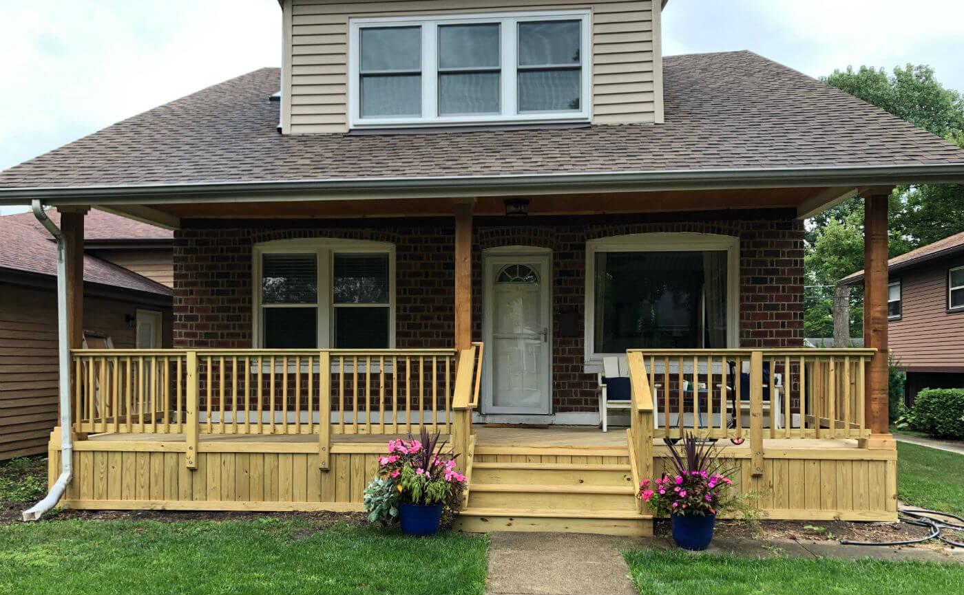 front porch deck Westmont IL