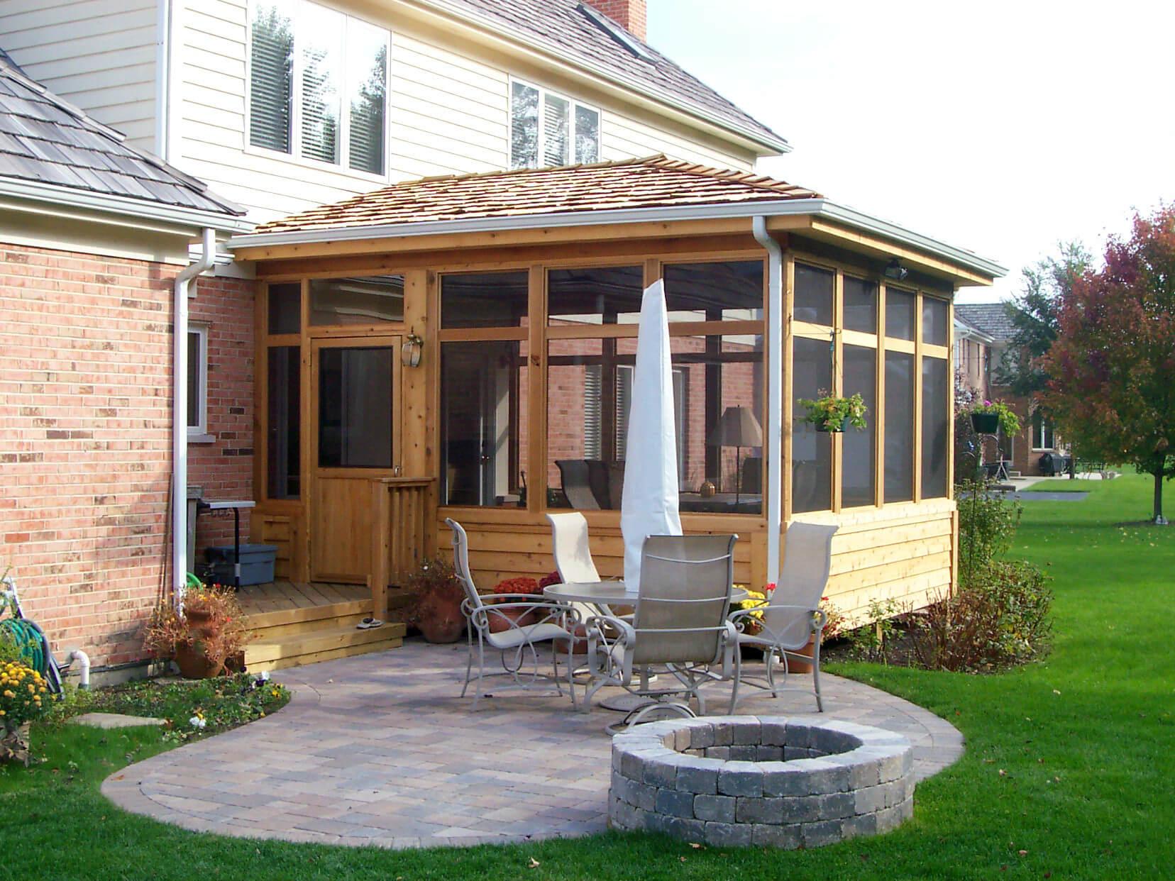 Custom wooden porch