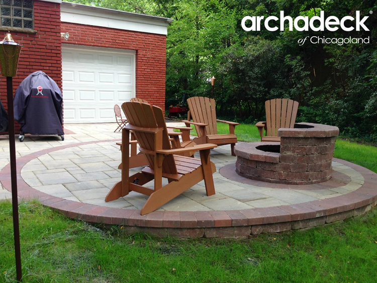 Custom fire pit and patio