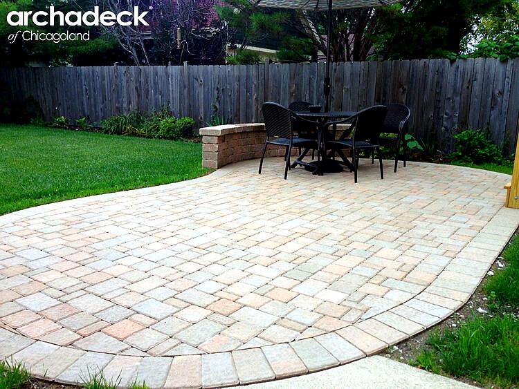 Custom cobble paver patio