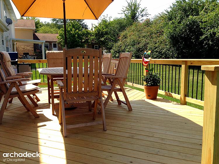 Custom wooden deck