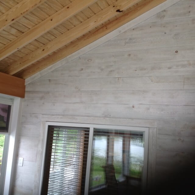 Three season room ceiling and wall details