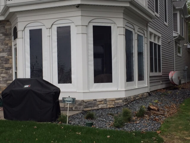 Outside view of screened porch