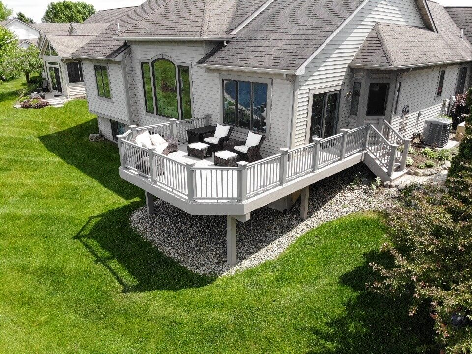 Cozy custom elevated deck