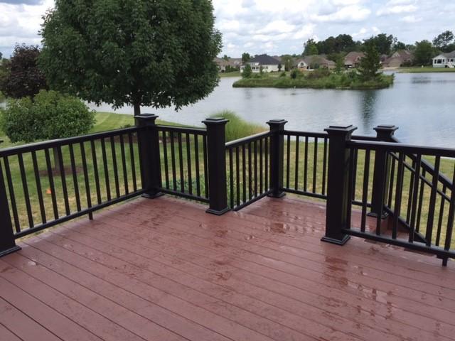 Wet deck floor