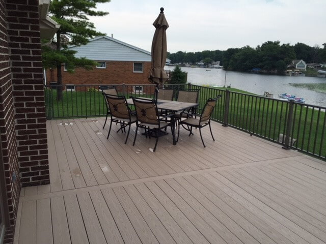 Dining area on deck