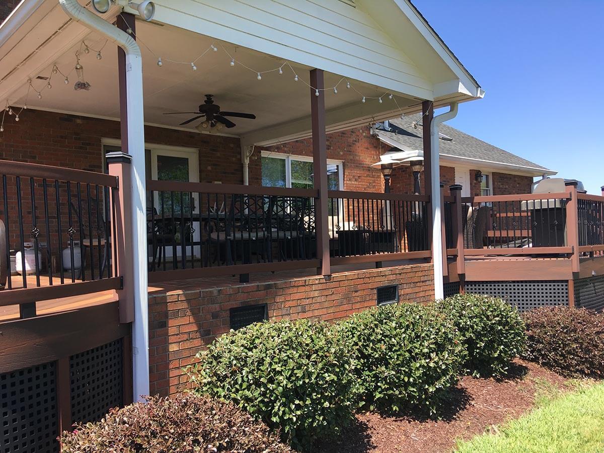 Custom porch and deck
