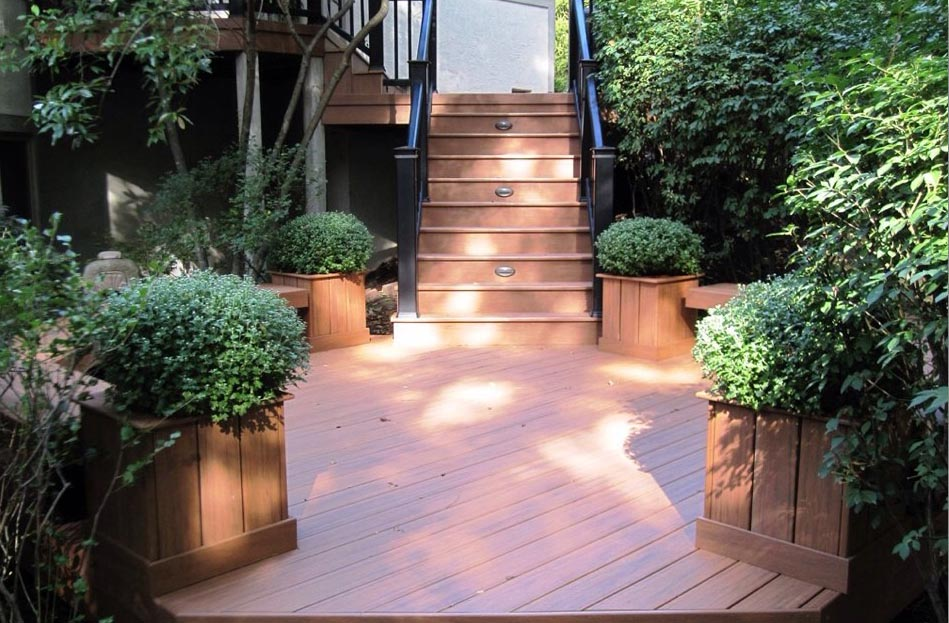 Deck stairs Greenville