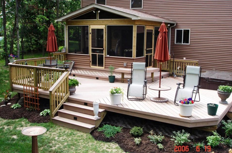 Outdoor Deck finished