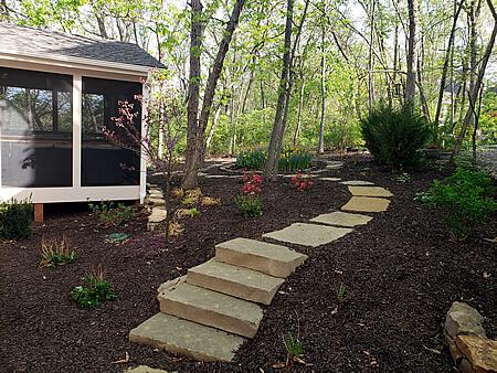 backyard walk path