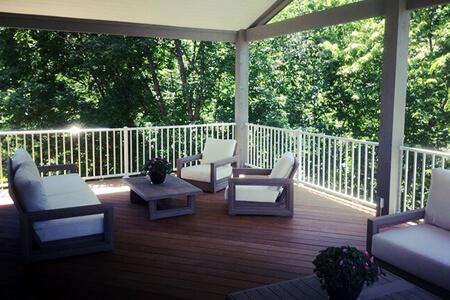 Custom roofed deck.