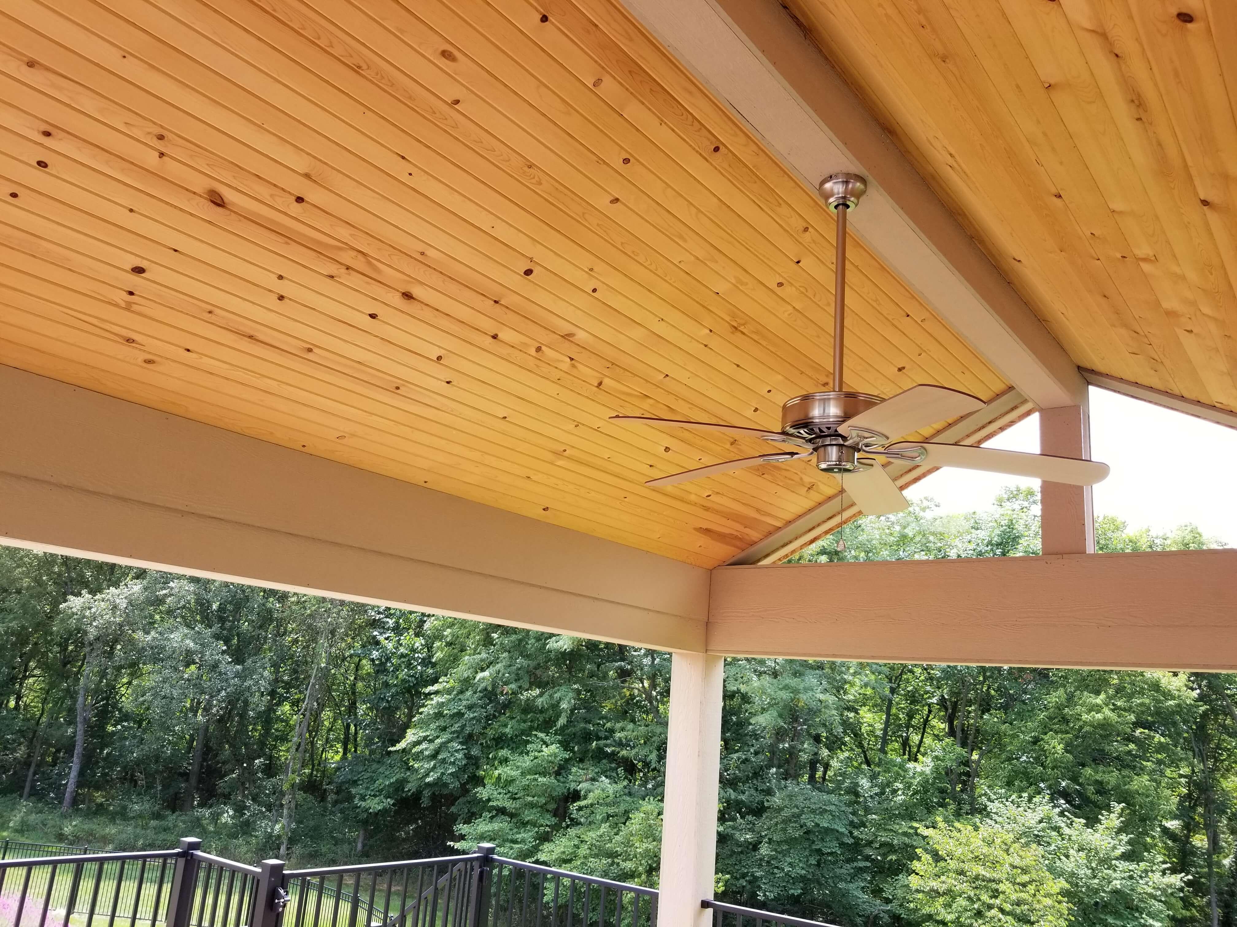 Porch ceiling details