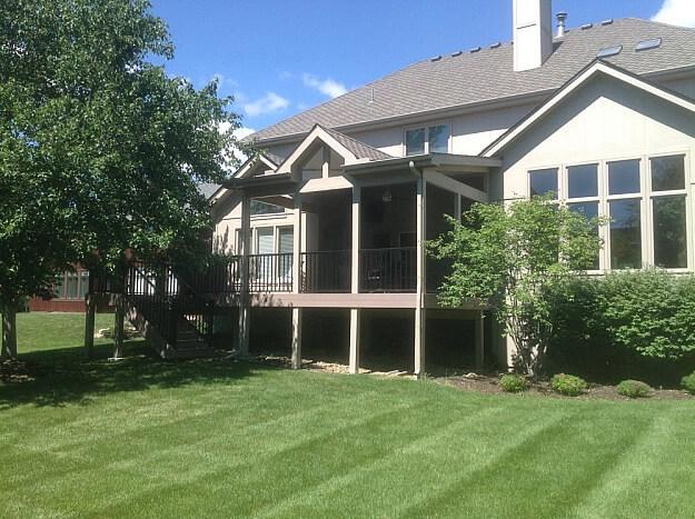 Custom backyard open porch and deck