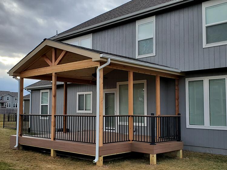 Custom open porch