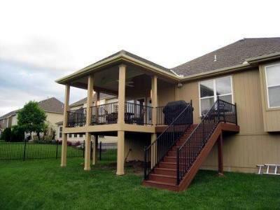 Custom backyard open porch