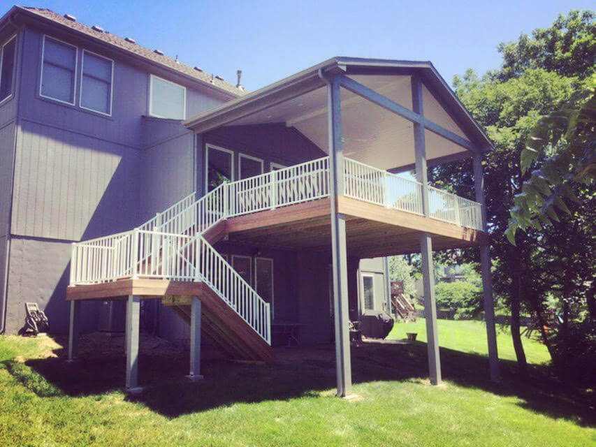 Custom elevated open porch