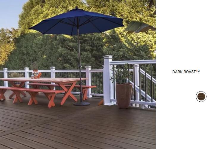 Dark Roast deck and seating area