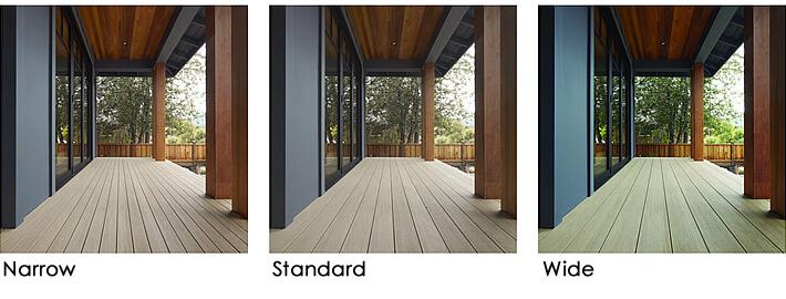Multi-width decking