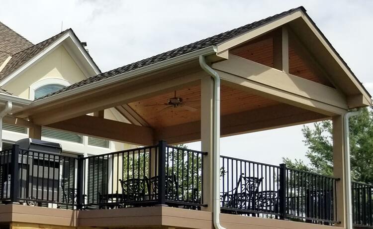 Custom roofed deck