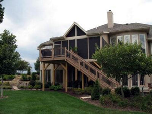 Elevated screened porch