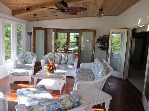 Cozy custom sunroom