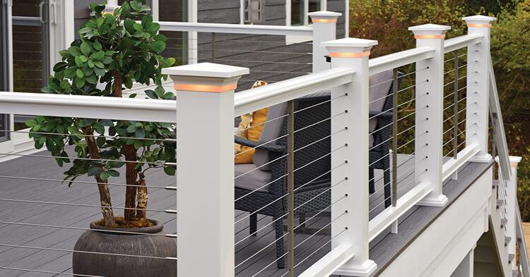 New deck with custom rail lighting